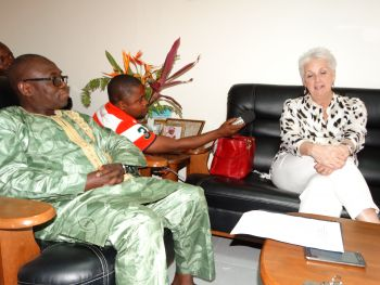 Acting Minister Sirleaf and Amb. Malarc