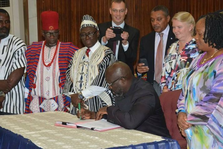President Weah signs historic Local Government Act(LGA)