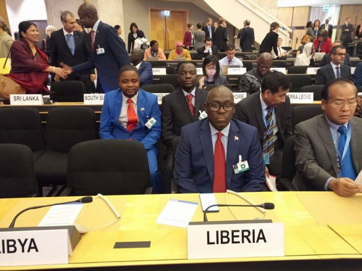 Minister Sirleaf presents Liberia's case at 69th Session of UNHCR in Geneva, Switzerland