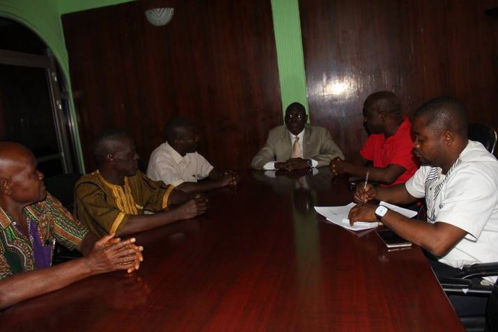 Sinoe County Representative Jay Nagbe Sloh and leadership Jedepo District on visit Internal Affairs Minister in Monrovia